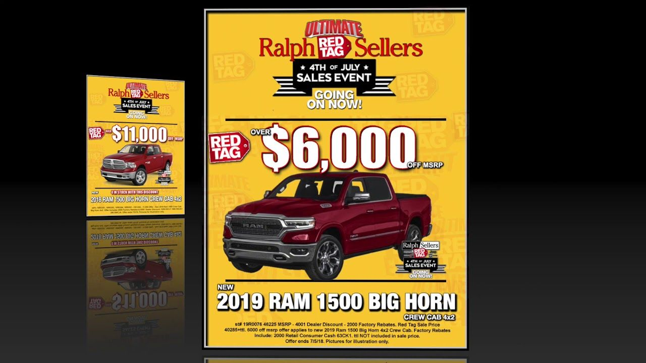 Ultimate Red Tag Sales Event Going On Now At Ralph Sellers Tag