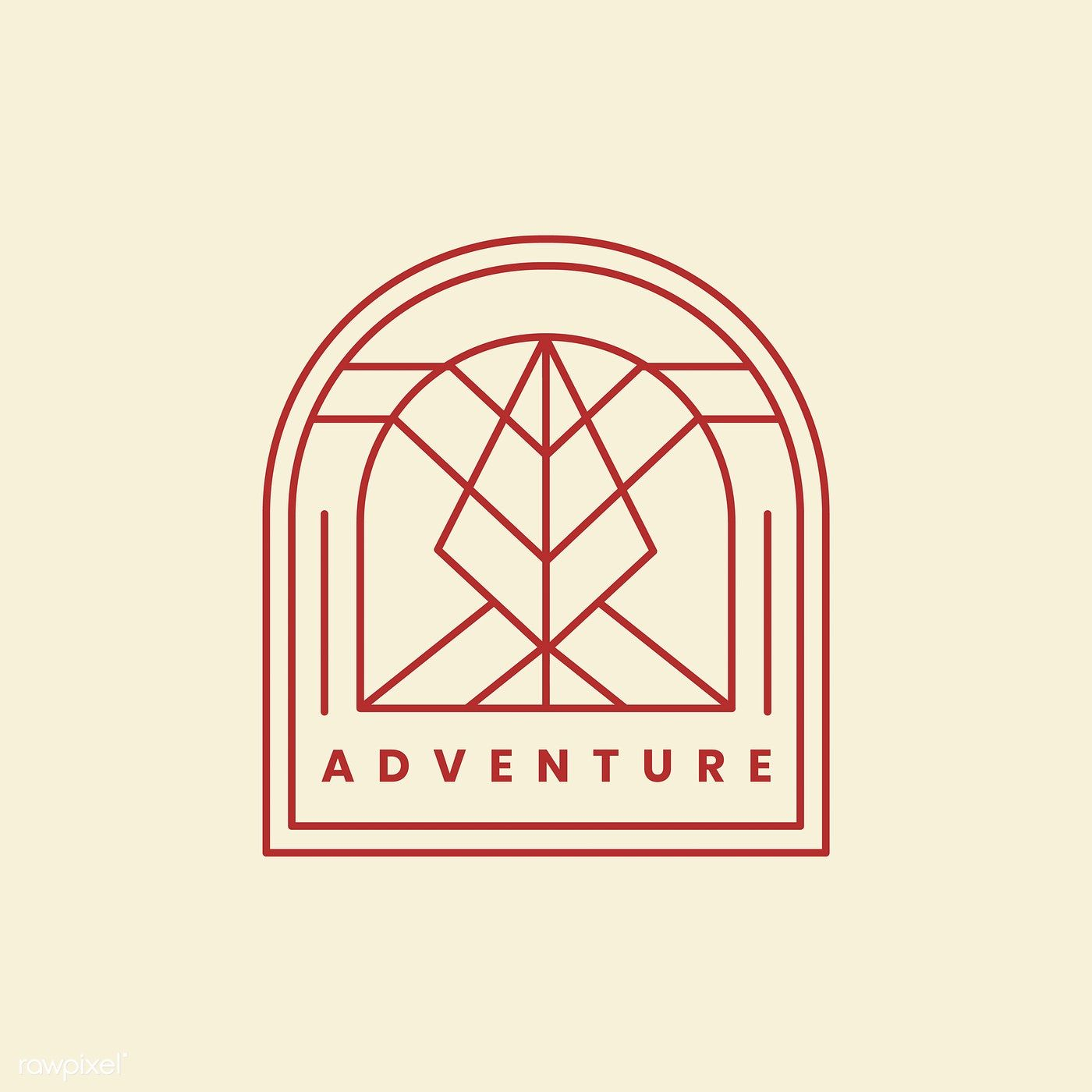 Outdoor adventure logo badge template free image by
