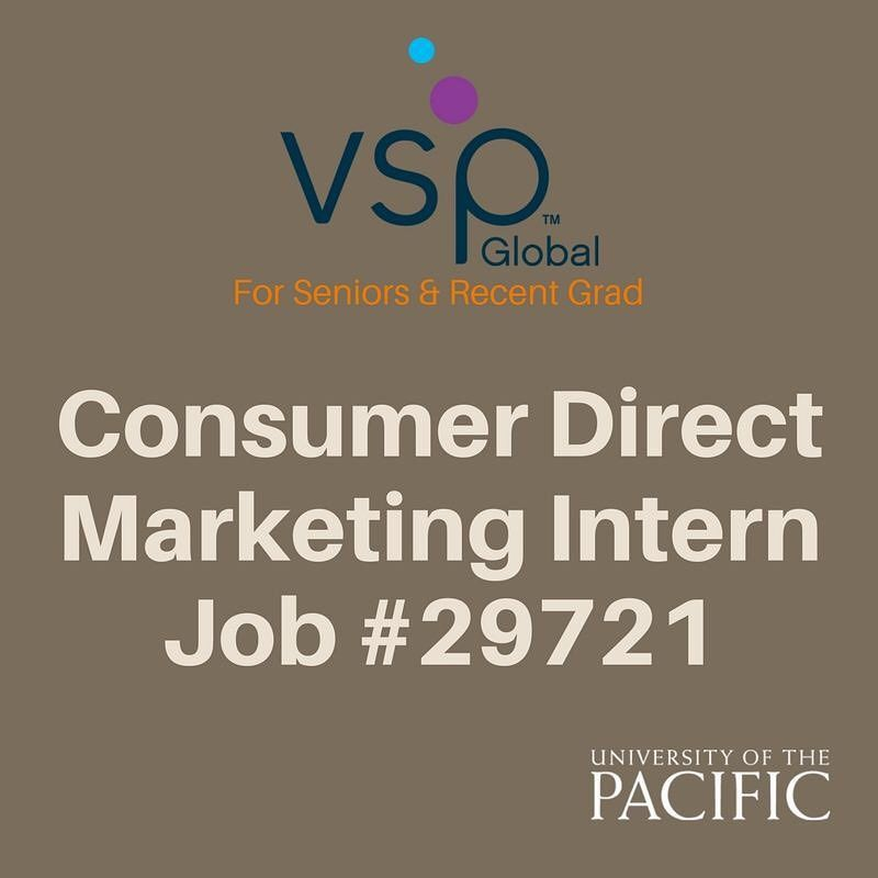 Have an interest in consumer direct marketing? VSP is looking for - marketing intern job description