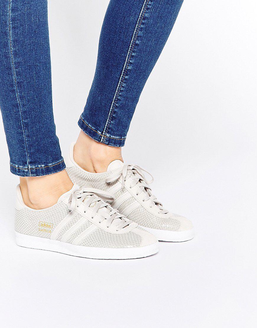 adidas Originals Gazelle Grey Trainers at asos.com | Adidas ...