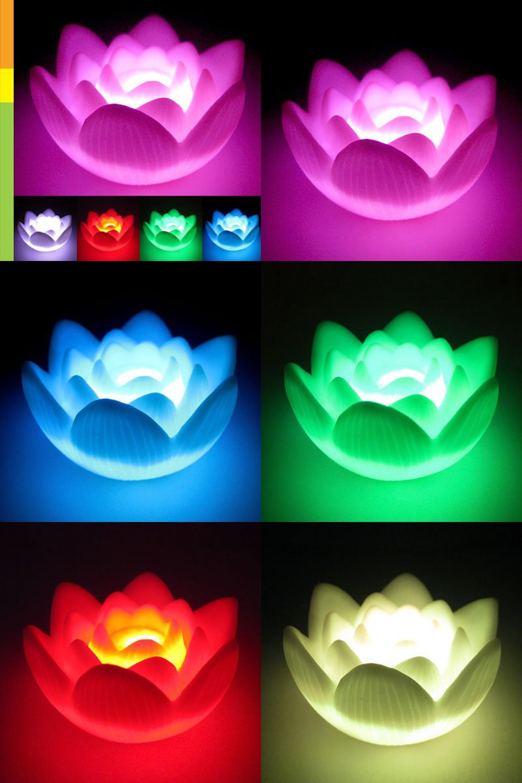 Visit To Buy Ews Color Changing Led Lotus Flower Romantic Love Mood