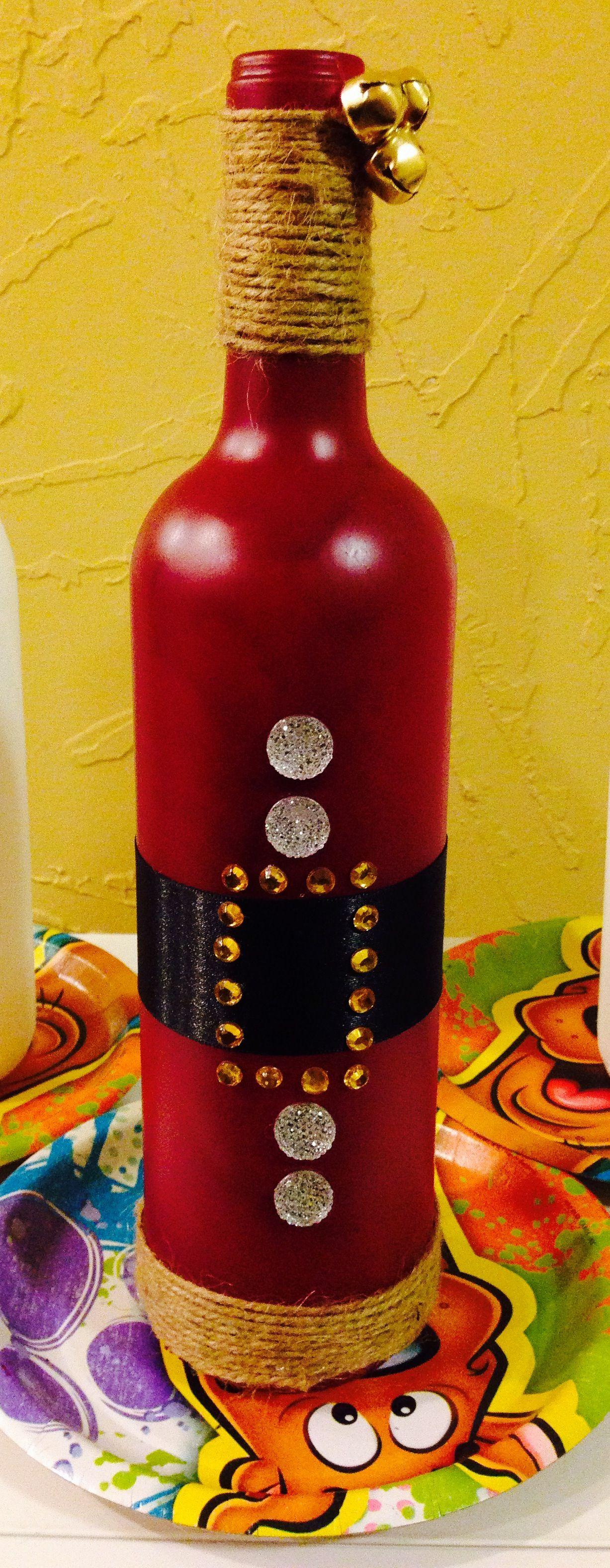 Christmas Decor Santa Wine Bottle