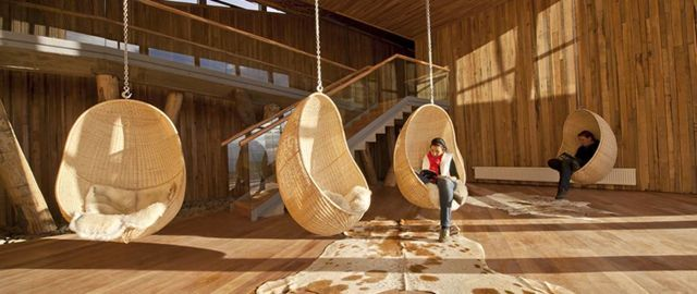 swing chair <> Tierra Patagonia Hotel in Chile -  maybe poolside