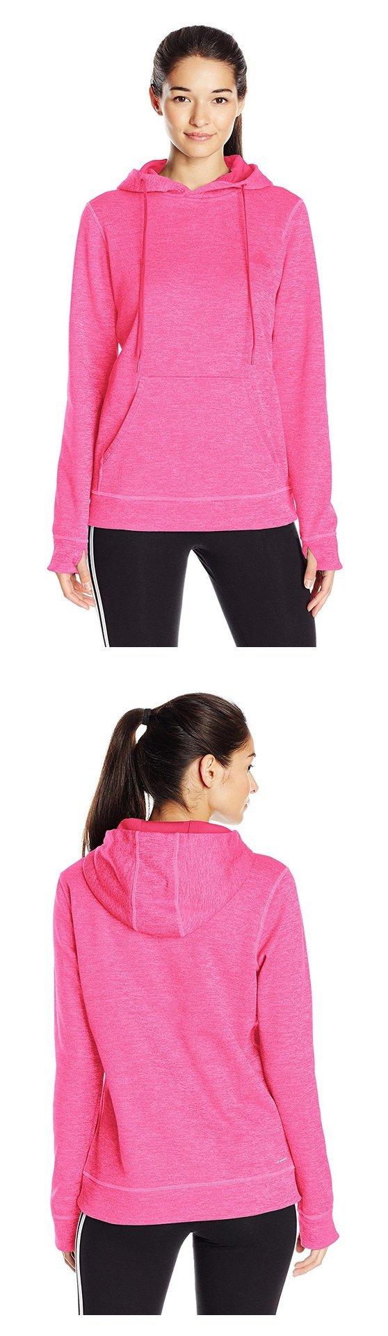 $20.03 - adidas Women's Team Issue Fleece Pullover Hoodie Shock Pink/Collegiate Heather #adidas