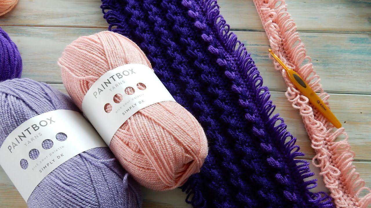 MileaMinute Loop Stitch Braid Baby Blanket Paintbox
