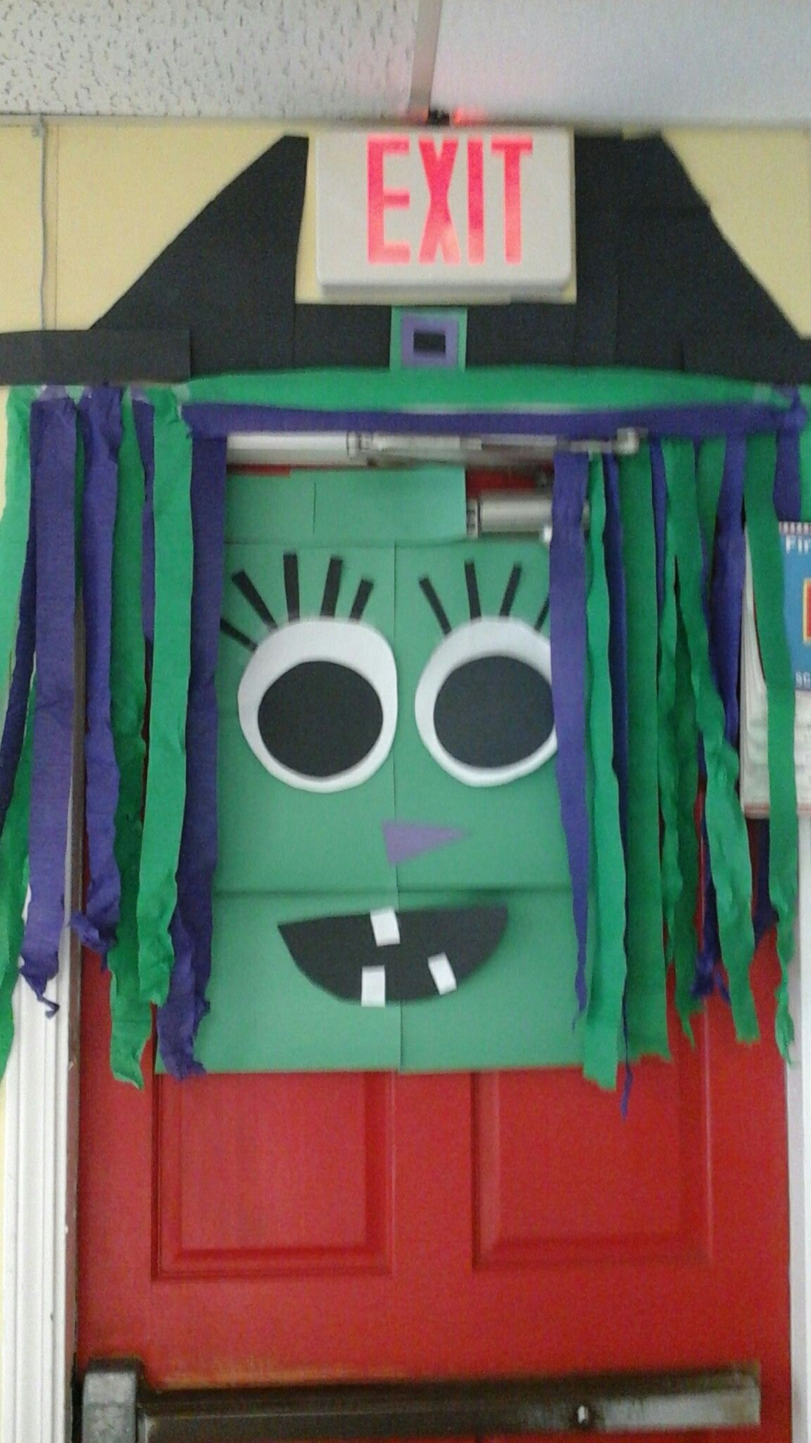 Halloween classroom door decor Halloween classroom door decor