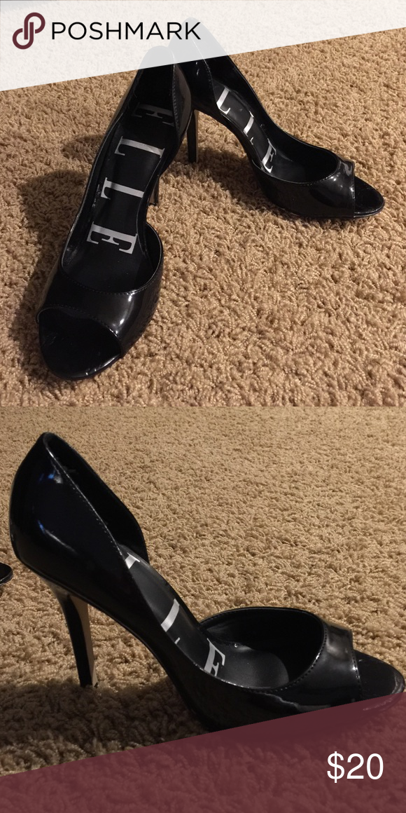 Black stilettos Size 9 leather stilettos from JCPenney. Only worn once Shoes Heels