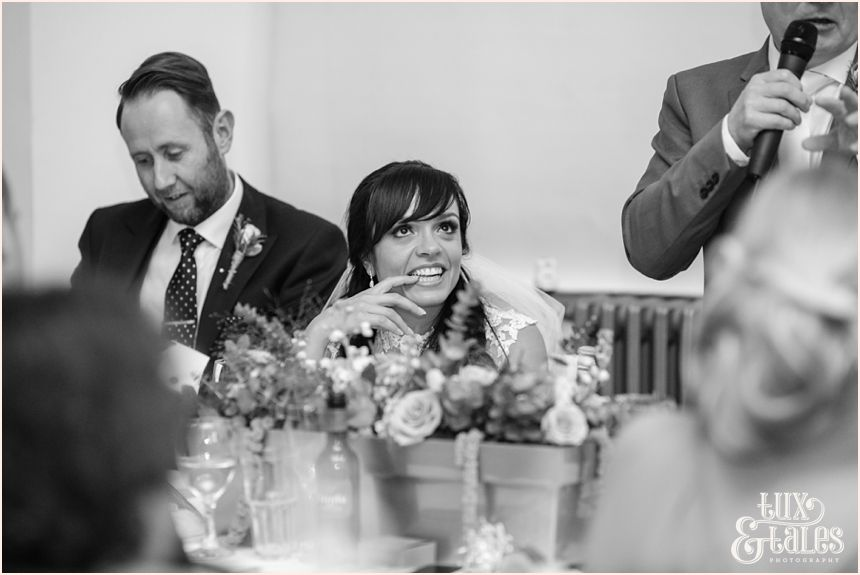 Wedding Speeches At Oh Me My In Liverpool Bride Makes A Cute Face
