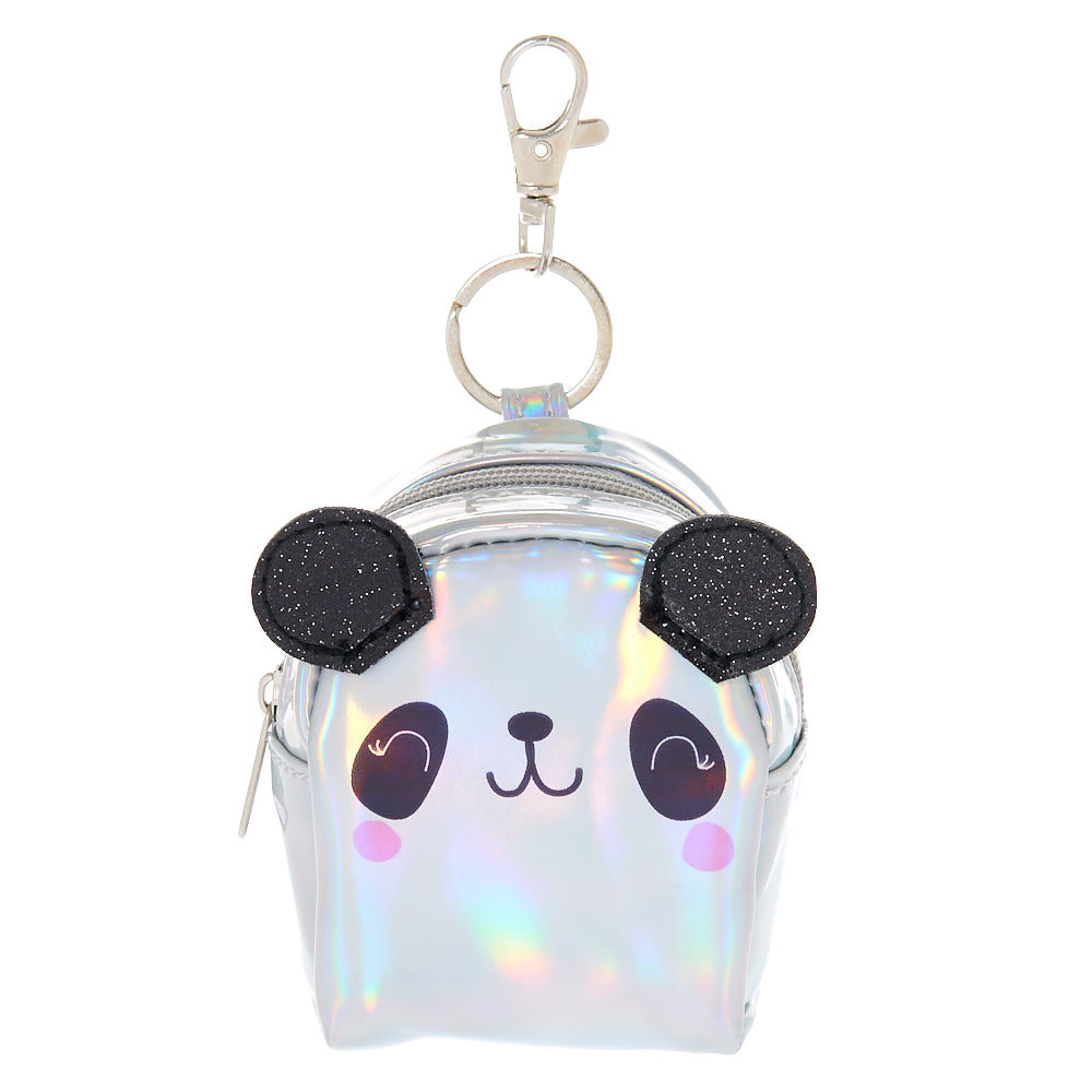 Claire S Holographic Panda Mini Backpack Keychain Cute Mini