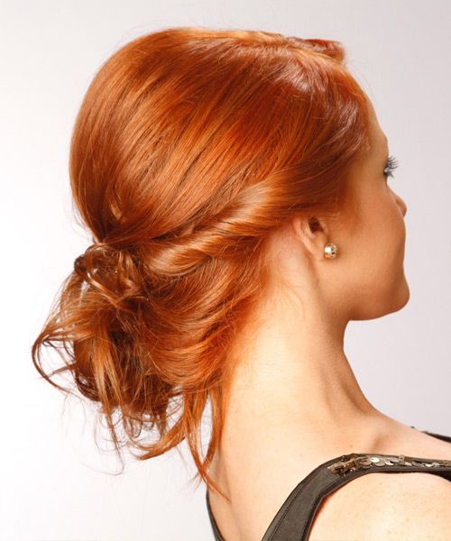 Long Curly Ginger Red Braided Updo Hair Styles Updos For Medium Length Hair Medium Hair Styles