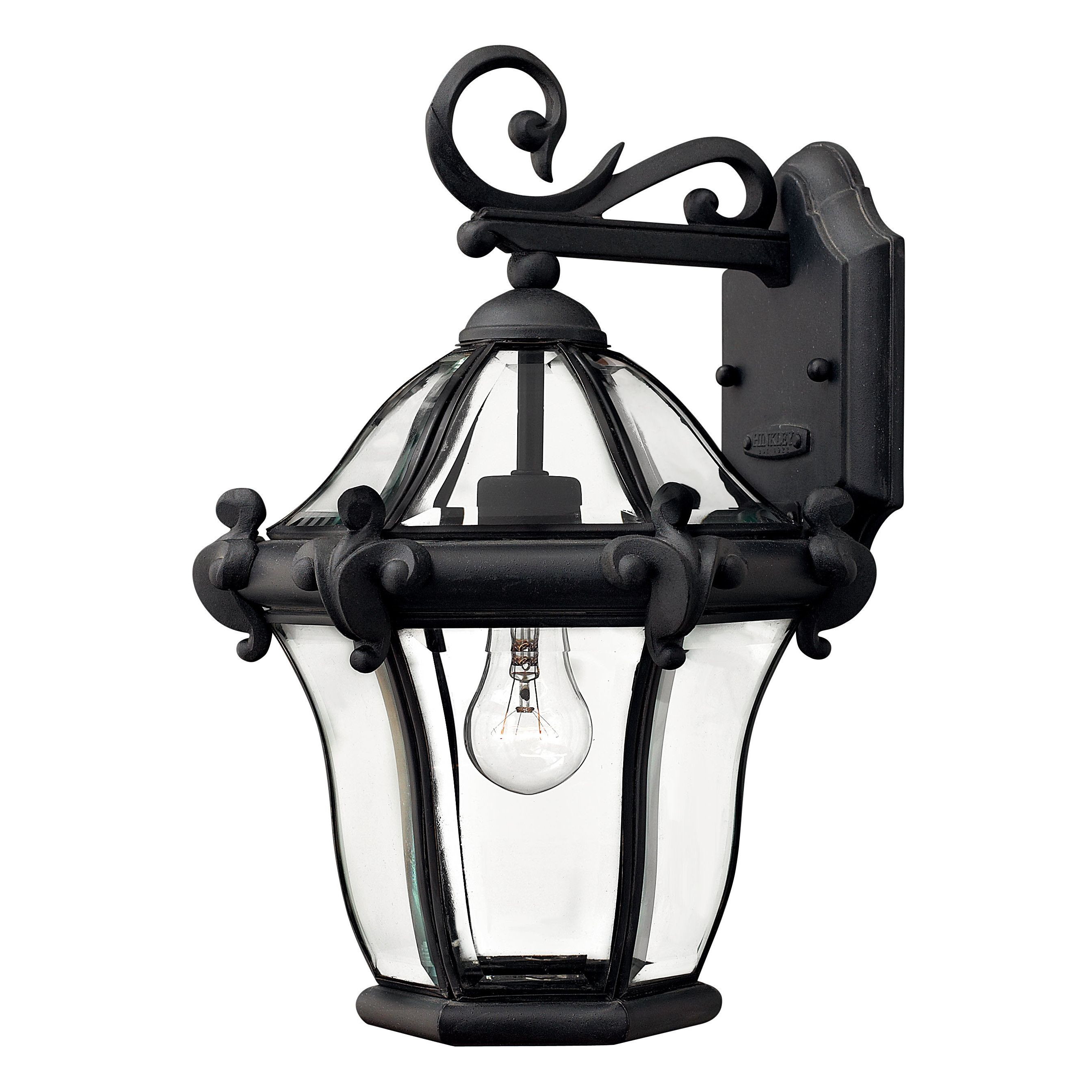 San Clemente Outdoor Wall Lantern Black Outdoor Wall