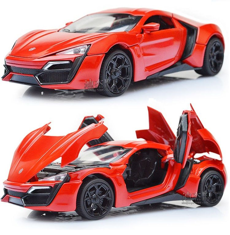 1: 32the猛烈な勢いlykan hypersport lluxurious合金carsモデル送料無料四色金属古典cars