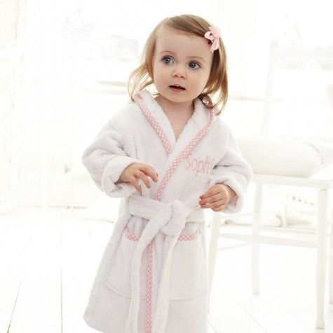 Ladies Bath Robe Dressing Gown. PERSONALISED....A VERY SPECIAL GIFT..