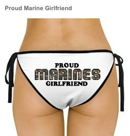 Where can you find a bathing suit with A USMC logo?