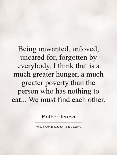 Quotes about feeling unloved