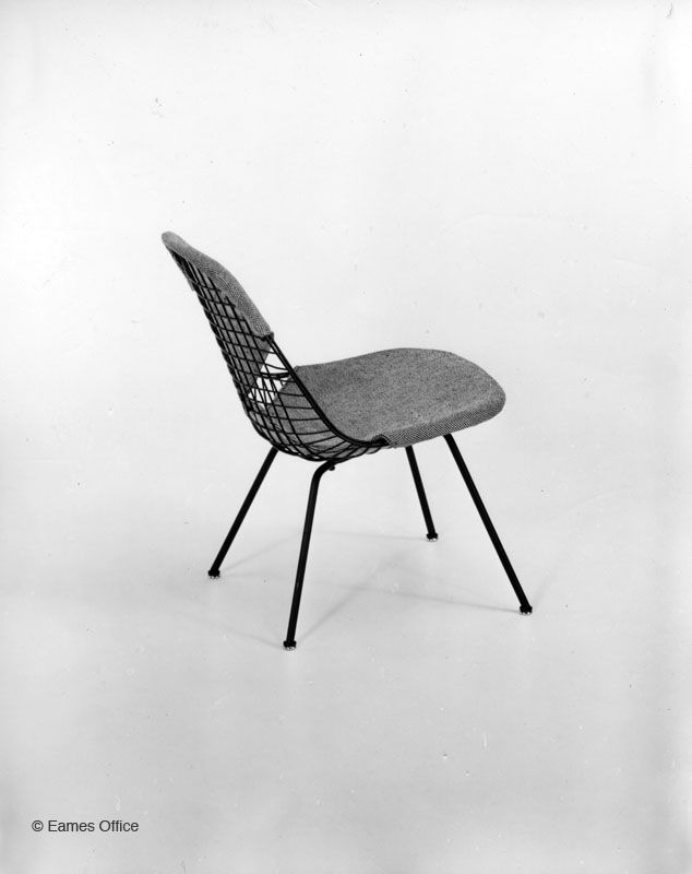 LKX 2 Low Lounge Chair Height #Eames Upholstered Wire Chair | Eames Office