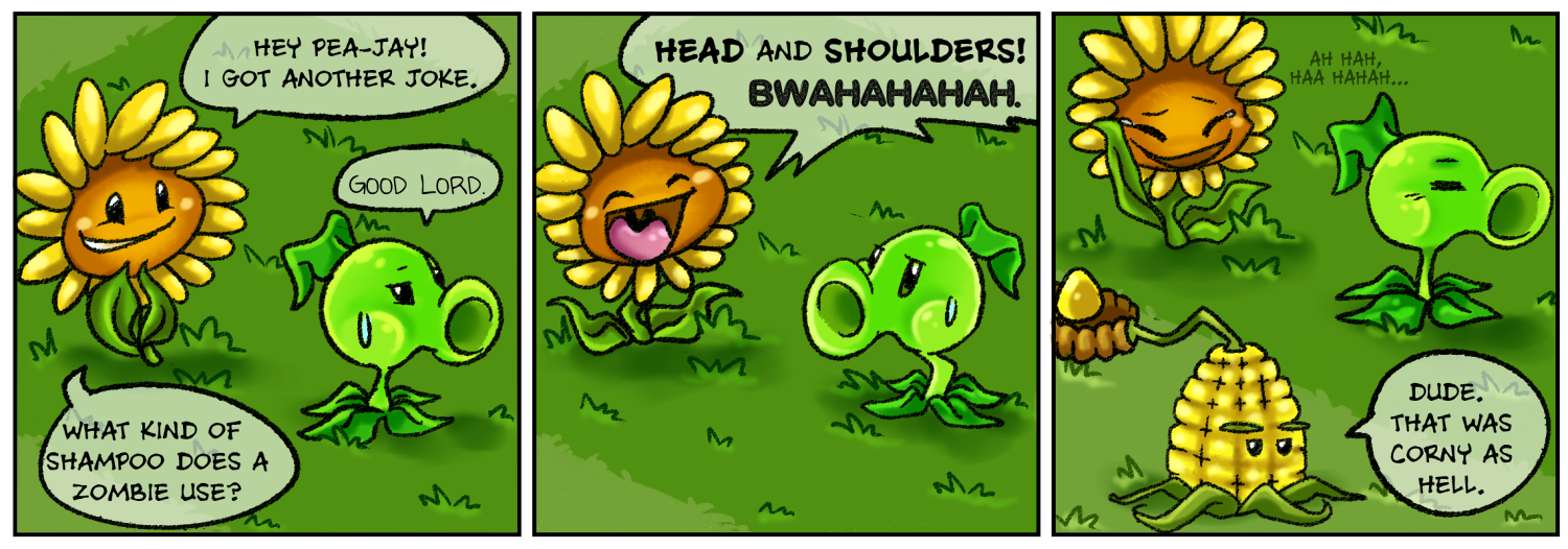 punny sunny plants vs zombies 3 by nestly deviantart com on
