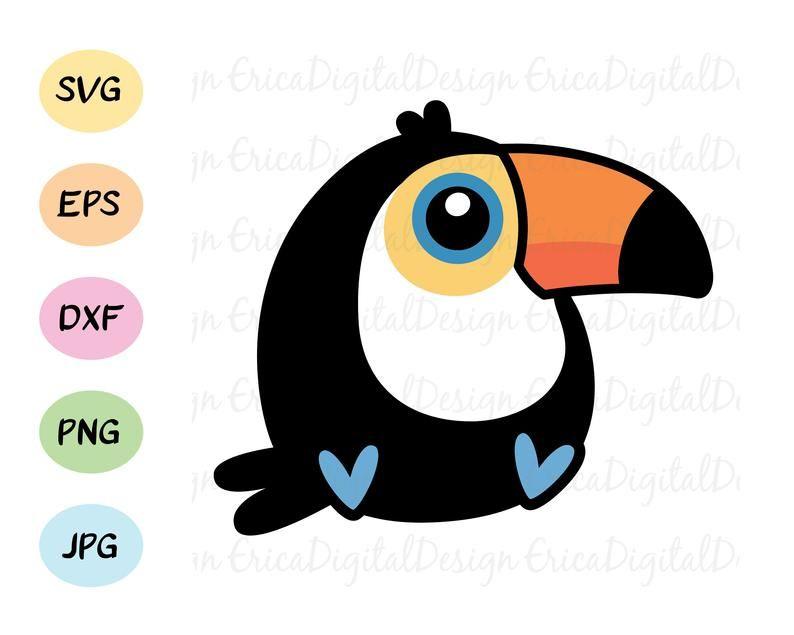 Silhouette Cricut Parrot Clipart Parrot Cut File Cute Parrot SVG Beautiful Parrot SVG Parrot Instant Download Tropical Bird SVG