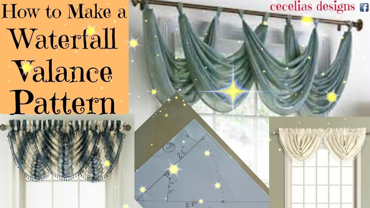 How To Make A Waterfall Valance Pattern This Is One Of My Most Recent Videos This Is A Link To My Youtube Channel Waterfall Valance Valance Patterns Valance
