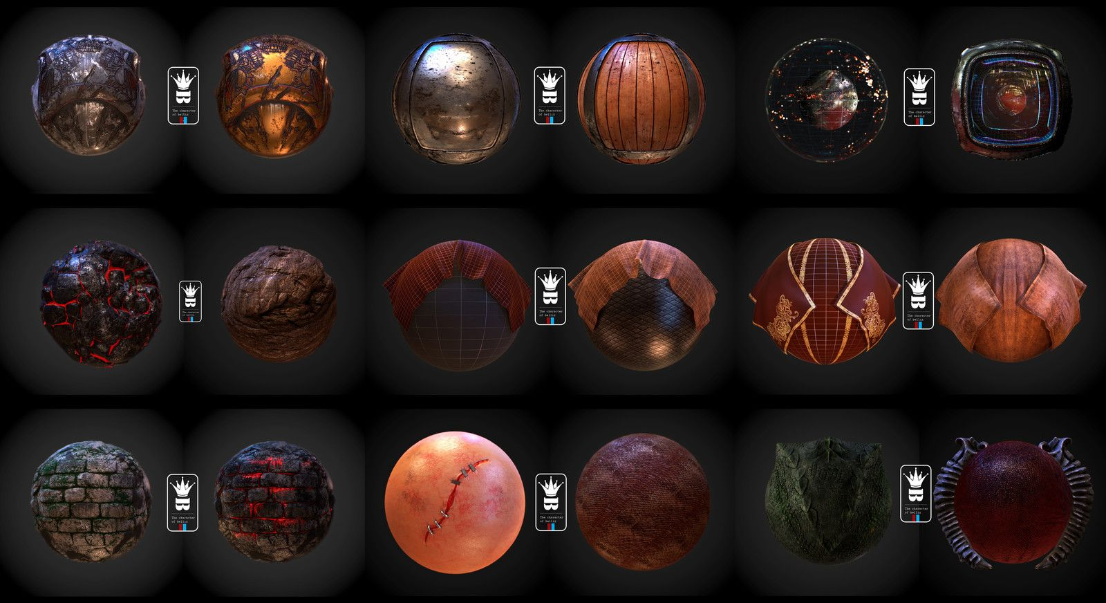 Matmaterial texture ball, wichanan sarajan on ArtStation at https://www.artstation.com/artwork/YPLY3
