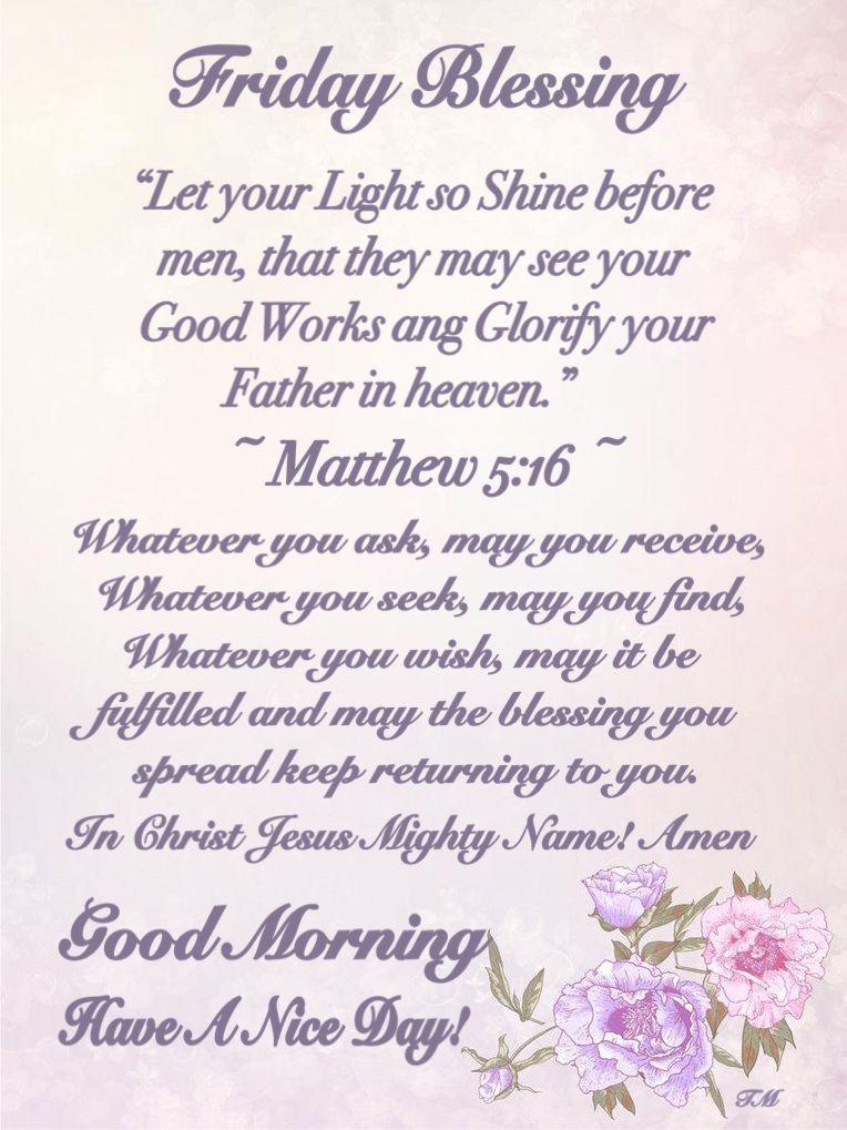 Friday Blessings ~~j   Blessed friday, Morning prayers, Sunday prayer