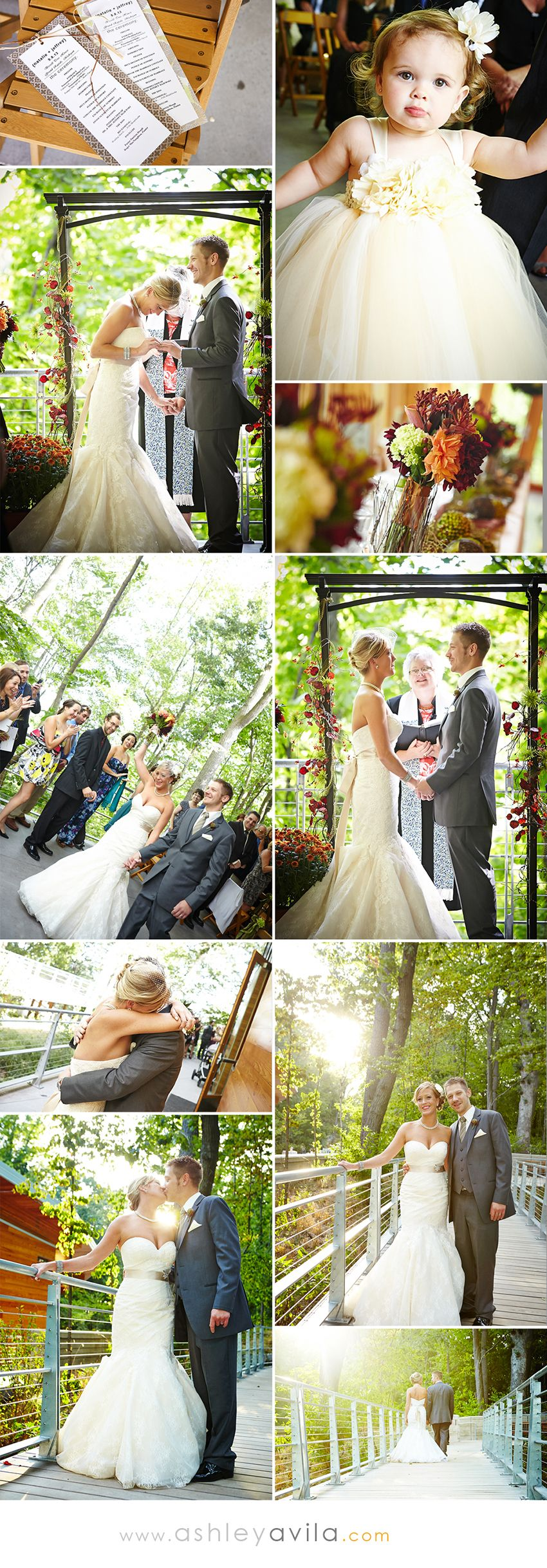 Wedding at Bissell Treehouse in the John Ball Zoo located