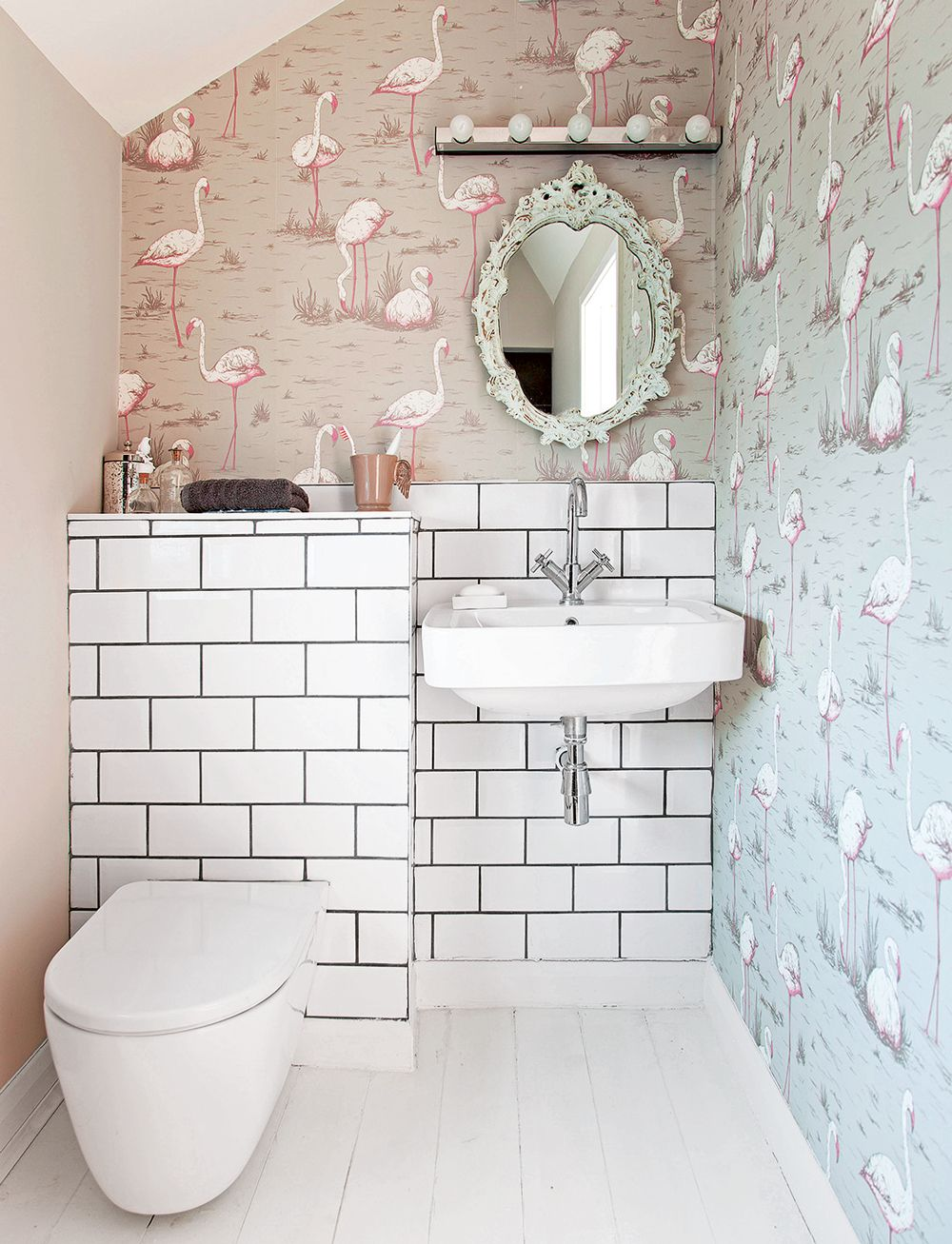32 Funky Covering Tiles Ideas Decortez Downstairs Toilet Small Toilet Room Small Bathroom