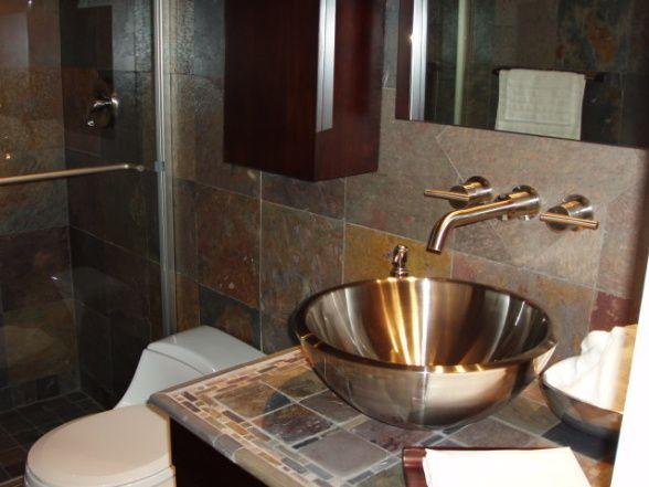 Slate Bathroom Ideas | Slate Bathroom   Bathroom Designs   Decorating Ideas    HGTV Rate My