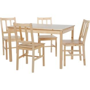 12999 Buy Richmond Solid Pine Table And 4 Chairs At Argoscouk