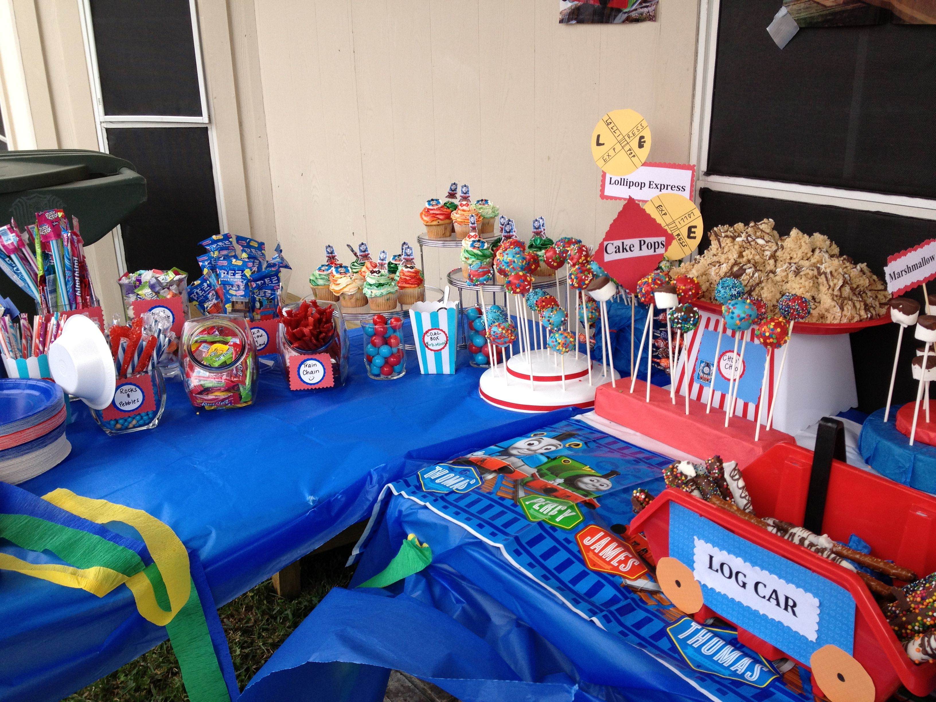 Sweet Candy Buffet Table Thomas The Train Theme Train