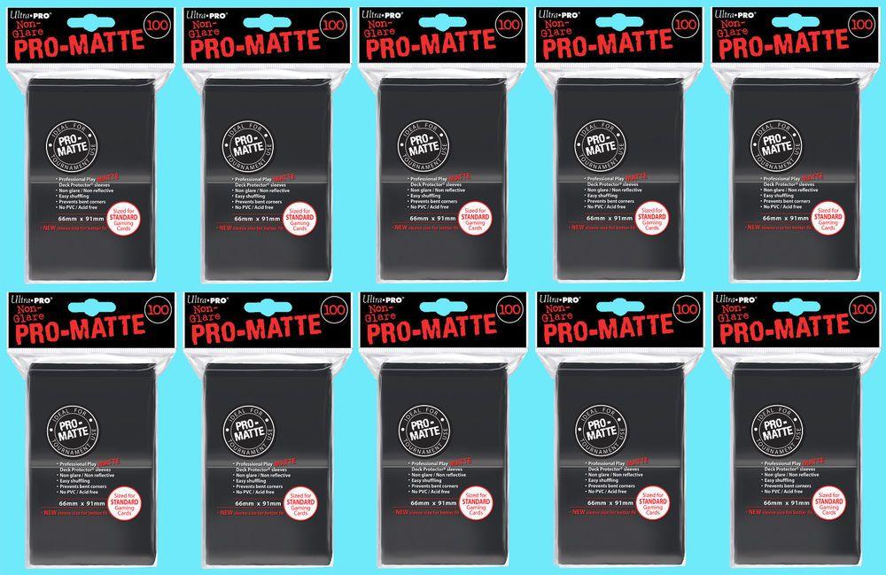 Details about 1000 ultra pro black promatte standard size