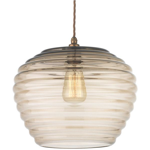 Heathfield & Co Celeste Umber Lustre Pendant Light ($375) ❤ liked on Polyvore featuring home, lighting, ceiling lights, brown, cable lighting, brown lamps, handmade lamps, colored lamps and colored pendant lights