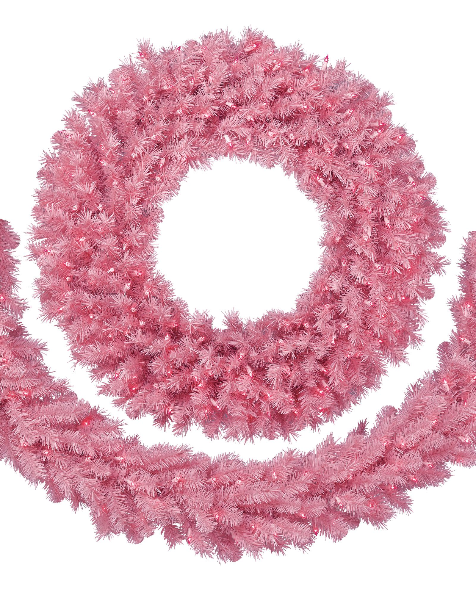 Pretty In Pink Christmas Wreath Garland Treetopia