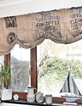 By Hester: HHH Coffee bean bag curtains | Fabulous Fabric ...