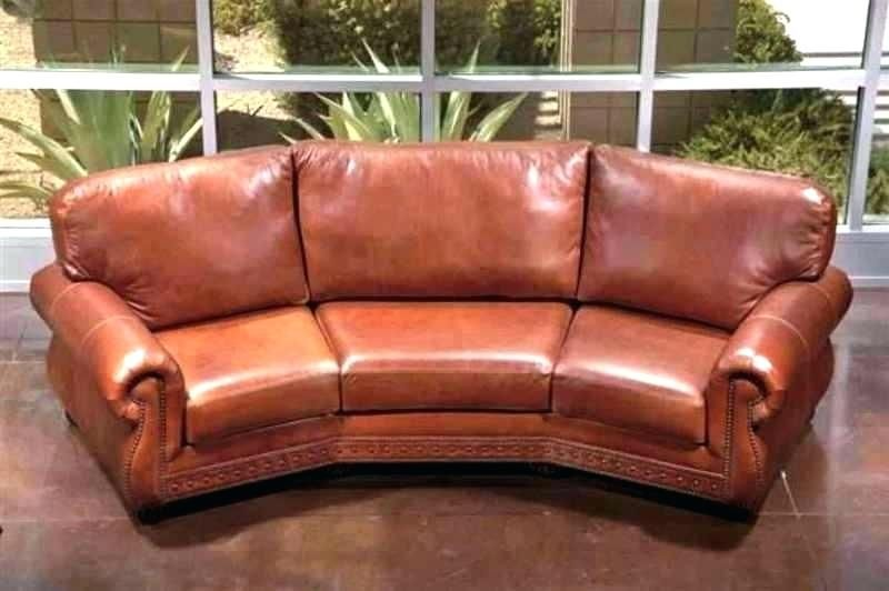 Curved Leather Sofa Sofas For Small Spaces Small Curved Sofa