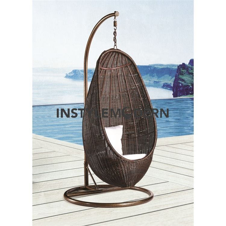 Merveilleux Rattan Hanging Chair With Stand