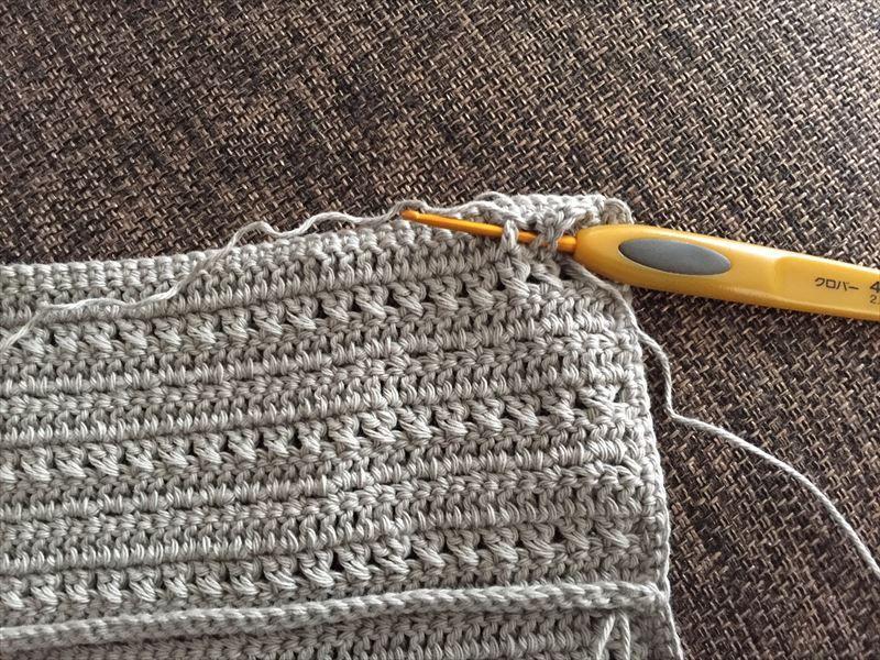 編み図 交差編みで編むかぎ針ケース 編み 図 かぎ針 編み針ケース