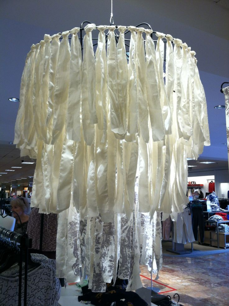 Fabric chandelier from cloth strips crafts pinterest fabric chandelier from cloth strips aloadofball Images