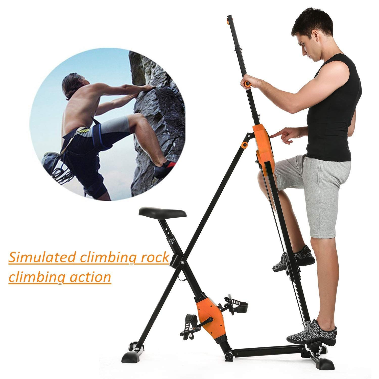 Kepteen Vertical Climber Folding 2 in 1 Climbing Stepper