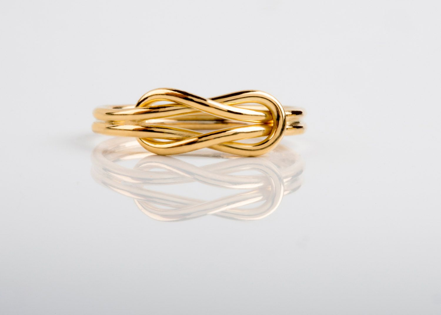 14K / 18K Solid Gold, Infinity Knot Ring, Gold Wire Ring, Solid Gold ...