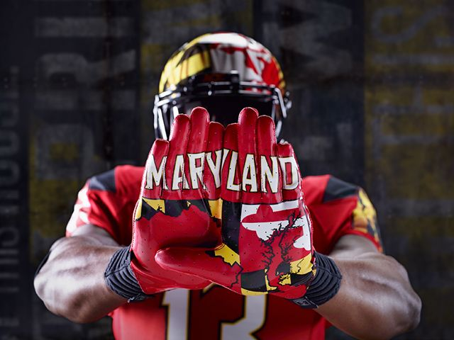 Maryland Football Unveils New Red Pride Uniforms Maryland Terrapins Football Nfl Outfits Football