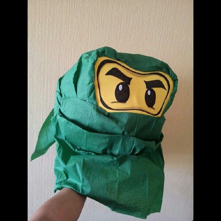 Piñata de Ninja Go para cumpleaños de Vicente
