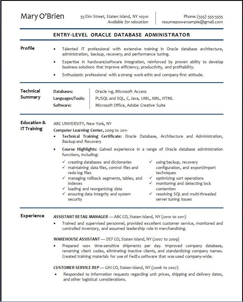 Banking Resume Objective Entry Level - http://www.resumecareer.info ...