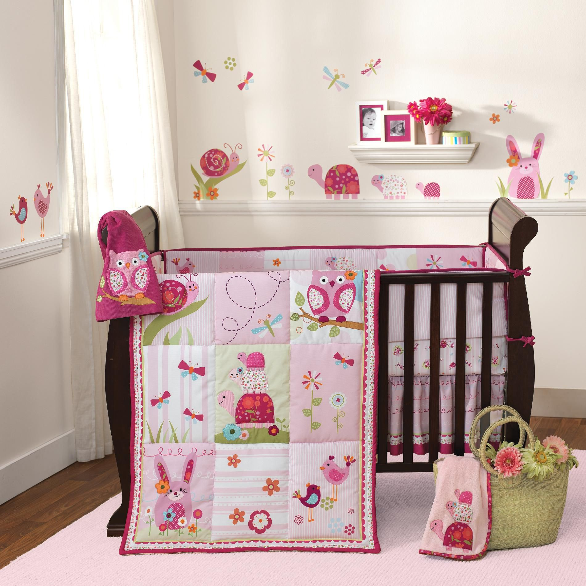 Lambs & Ivy Crib Bedding Garden Babies 3 Piece Set - Baby Sets Collections