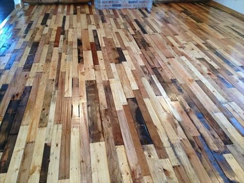Recycled wood pallet flooring ideas pallet floors wood pallets diy wood pallet flooring solutioingenieria Image collections