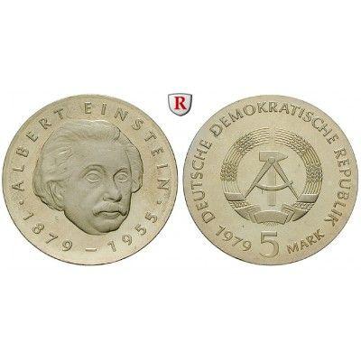 DDR, 5 Mark 1979, Einstein, PP, J. 1572 KupferNickel5