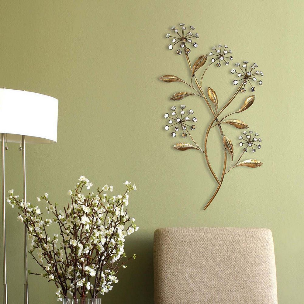 Stratton Home Decor Floral Bursts Wall Decor, Gold | Products ...