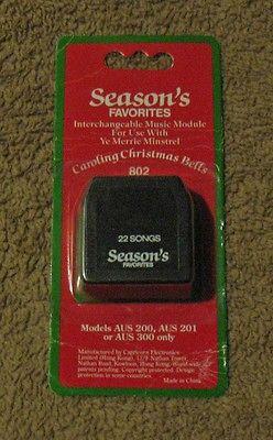 Ye Merrie Music Caroling Christmas Bells Cartridge Module Seasons ...