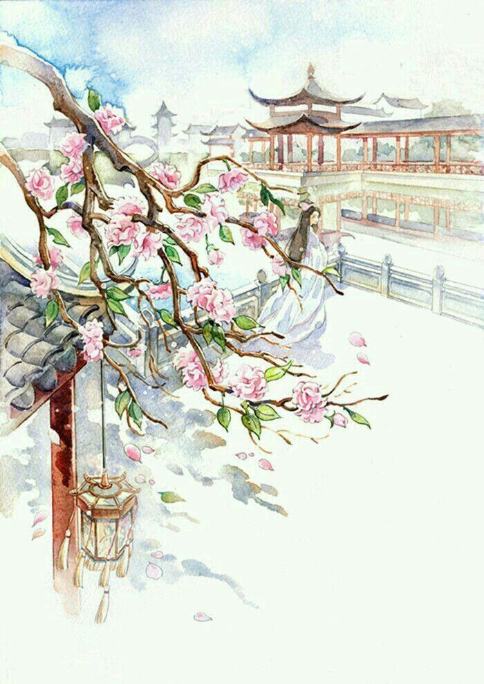 Pin By Miesha Brown On Asian Watercolor Art Japanese Art Japan Art