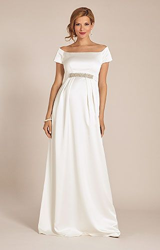 a11cd785f3 Aria Maternity Wedding Gown Ivory by Tiffany Rose